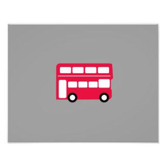 Autobús rojo grande fotografías