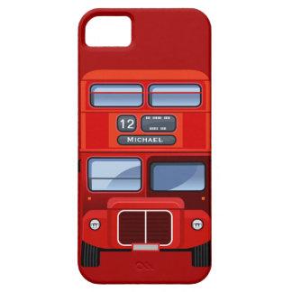 Autobús rojo viejo del autobús de dos pisos de iPhone 5 funda