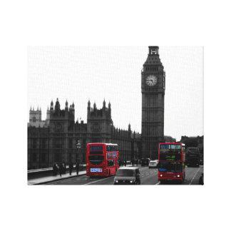 Autobús rojo y Big Ben, Reino Unido de Londres Lienzo Envuelto Para Galerías