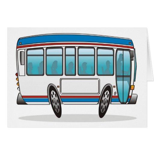 Autobús Tarjeta De Felicitación