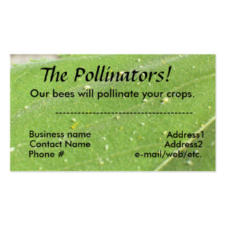 Autobús. Tarjeta - las donadoras de polen Tarjetas De Visita