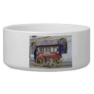 Autobús traído por caballo del vintage, Londres Comedero Para Mascota