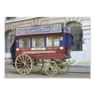"""Autobús traído por caballo del vintage, Londres Invitación 5"""" X 7"""""""