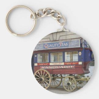 Autobús traído por caballo del vintage, Londres Llavero Redondo Tipo Pin