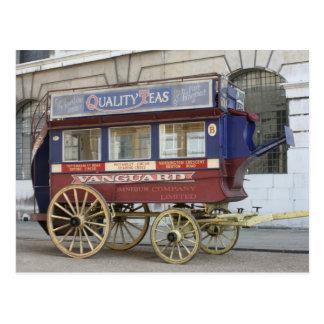 Autobús traído por caballo del vintage, Londres Postales