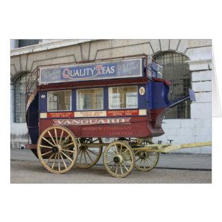 Autobús traído por caballo del vintage, Londres Tarjeta De Felicitación