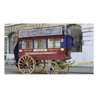 Autobús traído por caballo del vintage, Londres Tarjetas De Visita