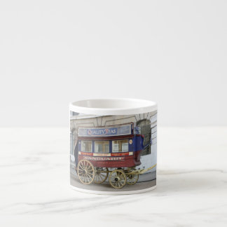Autobús traído por caballo del vintage, Londres Taza Espresso