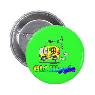 Autobús viejo del Hippie Pin Redondo De 2 Pulgadas