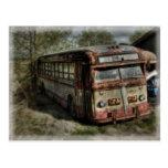 Autobús viejo postal