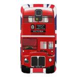 Autobús y Union Jack de Londres del vintage