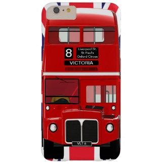Autobús y Union Jack de Londres del vintage Funda Barely There iPhone 6 Plus