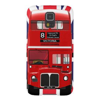 Autobús y Union Jack de Londres del vintage Funda Para Galaxy S5