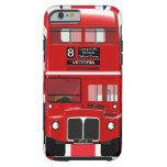 Autobús y Union Jack de Londres del vintage Funda Para iPhone 6 Tough