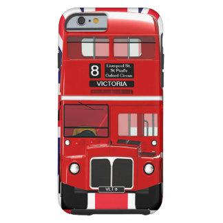 Autobús y Union Jack de Londres del vintage Funda Resistente iPhone 6