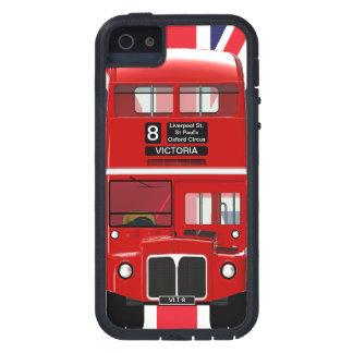 Autobús y Union Jack de Londres del vintage iPhone 5 Carcasas