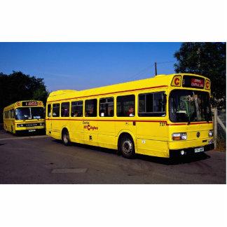 Autobuses amarillos, Londres, Inglaterra Fotoescultura Vertical