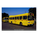 Autobuses amarillos, Londres, Inglaterra Posters