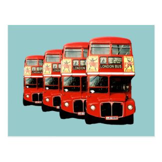 Autobuses de dos plantas del rojo de Londres Postales