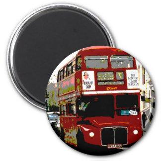 Autobuses rojos de Routemaster del autobús de Lond Imán Redondo 5 Cm