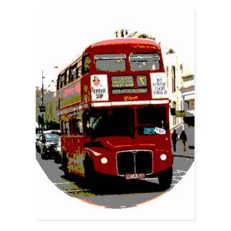 Autobuses rojos de Routemaster del autobús de Postales