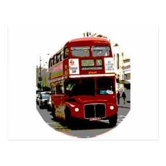 Autobuses rojos de Routemaster del autobús de Tarjeta Postal