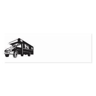 Autocaravana de la autocaravana retra tarjetas de visita mini