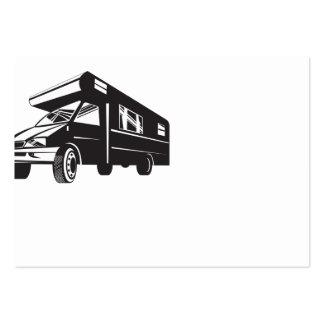 Autocaravana de la autocaravana retra tarjetas de visita grandes