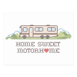 Autocaravana dulce casera, clase un viaje por tarjetas postales