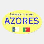 Autocolante del DOS Acores* de Universidade Pegatina Ovalada