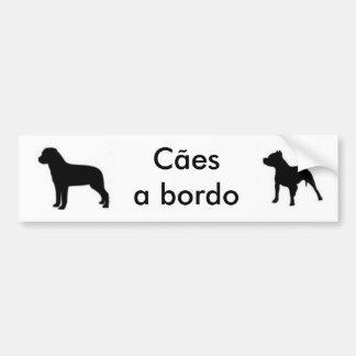 autocolante dogs the edge-Rott and Pit Bumper Sticker