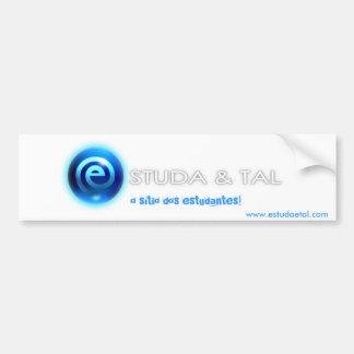 Autocolante ESTUDA&TAL Car Bumper Sticker