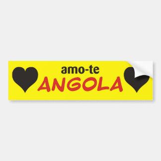 autocolante I love you yellow Angola Car Bumper Sticker