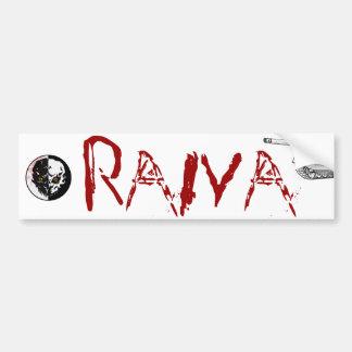 Autocolante RAIVA Car Bumper Sticker