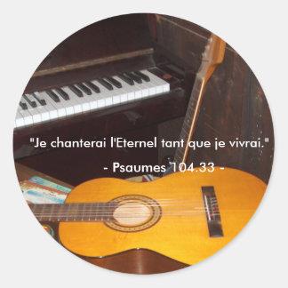 Autocollant/Je cantará el Eterno