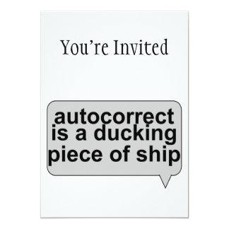 """Autocorrect estúpido chupa invitación 5"""" x 7"""""""