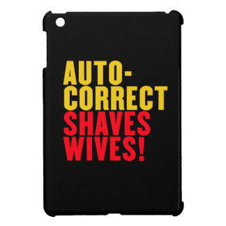 Autocorrect Shaves Wives, Custom Background Color iPad Mini Cover