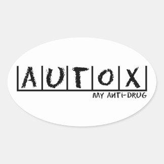 Autocross Anti-Drug Oval Sticker