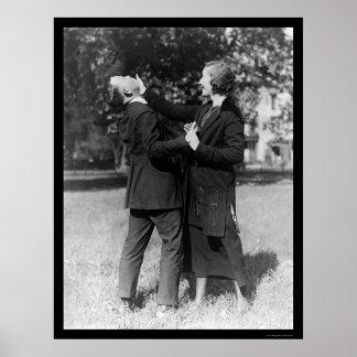 Autodefensa 1922 de la mujer policía póster
