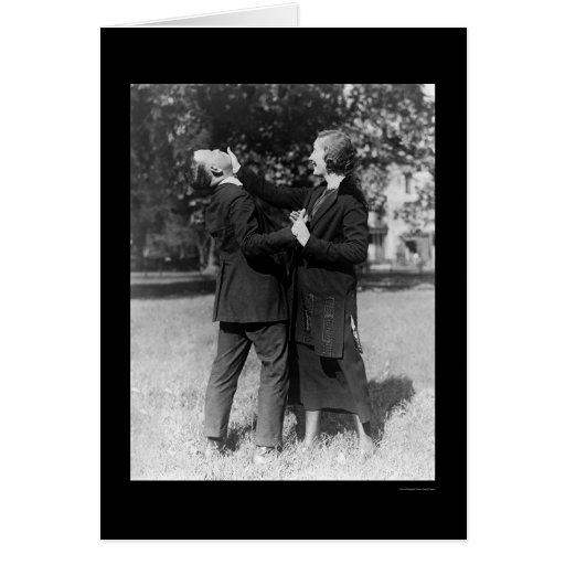Autodefensa 1922 de la mujer policía tarjeton