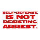 Autodefensa 1 tarjeta fotografica