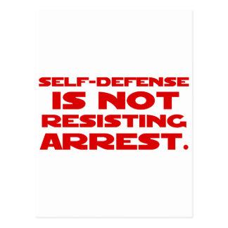 Autodefensa 1 tarjeta postal