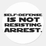 Autodefensa 3 pegatina redonda