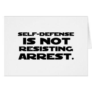 Autodefensa 3 tarjeta de felicitación