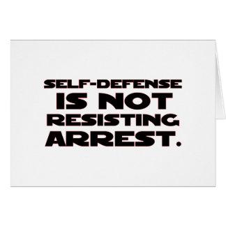 Autodefensa 4 tarjeta de felicitación