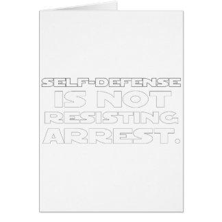 Autodefensa 5 tarjeta de felicitación