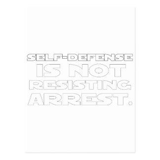 Autodefensa 5 tarjeta postal