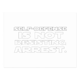 Autodefensa 5 tarjetas postales