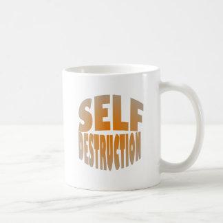 autodestrucción taza básica blanca