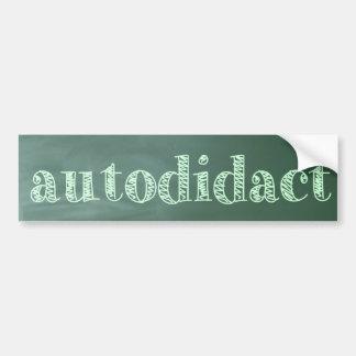 autodidact car bumper sticker